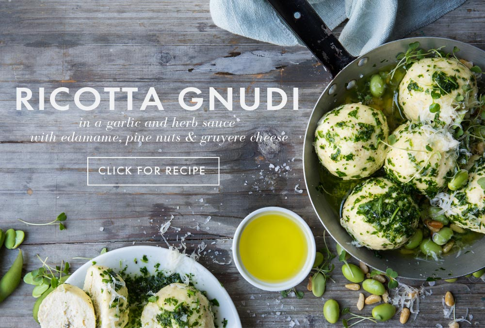 Avocado Oil Recipes - ricotta gnudi