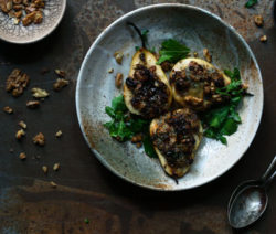 roasted pears & blue cheese