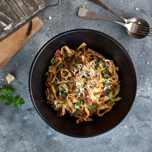 Slow Cooked Meat Ragù 3x3