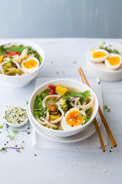 Udon Noodle and Vegetable Broth