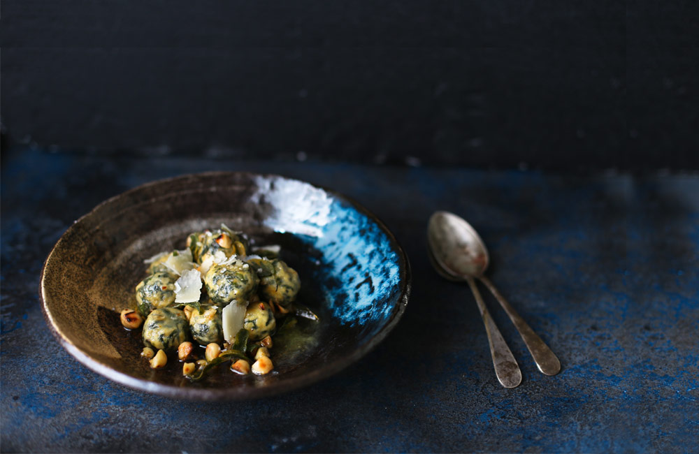 Cheese Recipes Ricotta & Spinach Gnudi with a Sage Beurre Noisette