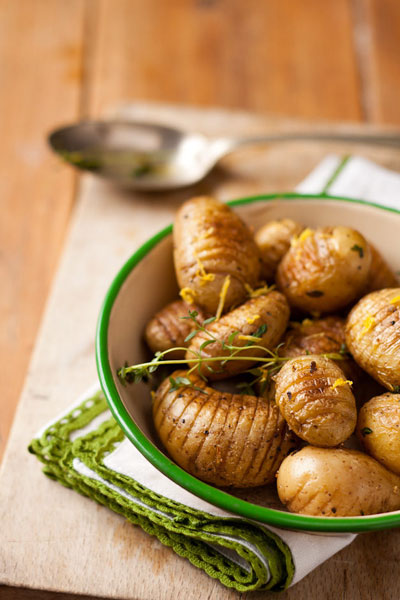 Best Braai Salads hasselback potatoes