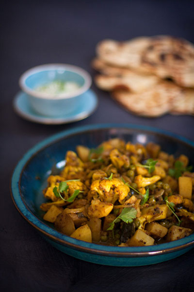 Aloo Gobi with Naan Recipe
