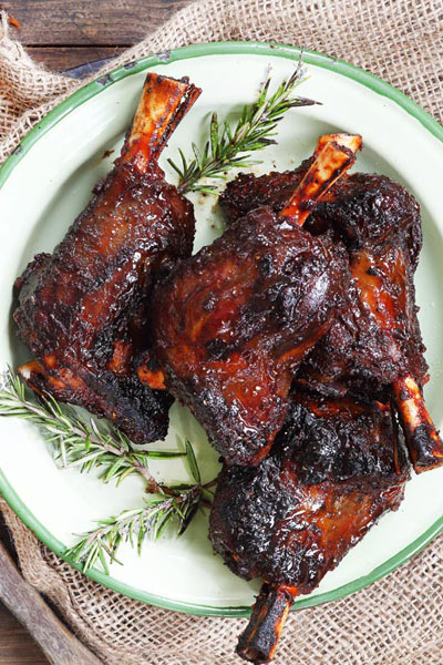Beer Recipes Amber Ale Sticky Lamb Shanks