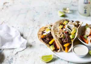 asian tacos with vegetables