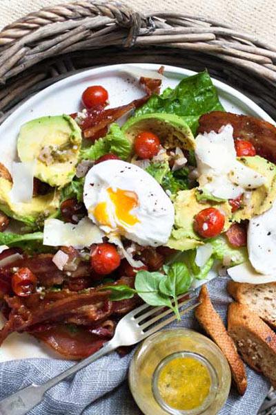 recipes with honey balsamic tomoto & maple glazed bacon salad