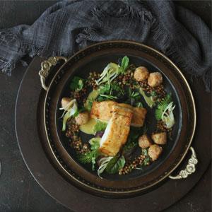 Curried Kingklip with Sorghum Salad 3x3