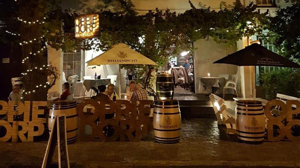 restaurants in Stellenbosch oppie dorp
