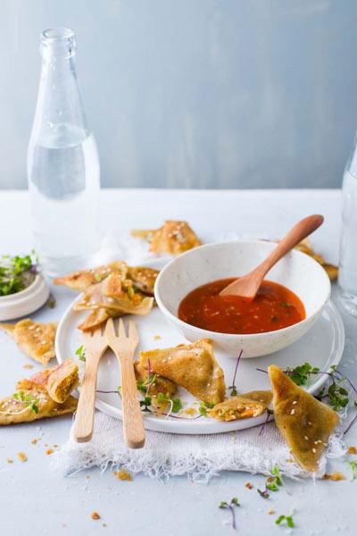recipes with honey deep fried chicken & vegetable dumplings