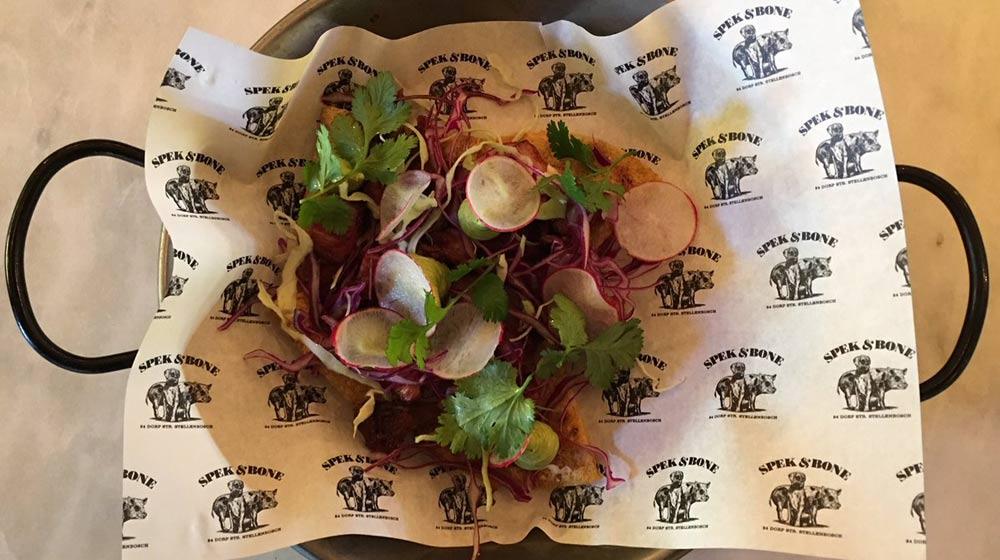 restaurants in Stellenbosch spek & bone