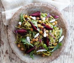 kale and beet linguine