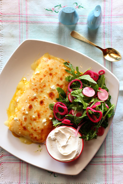 Mexican Food - El Burro Butternut Enchiladas with Sour Cream
