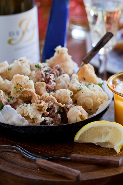 healthy fish recipes - lemon and chilli squid