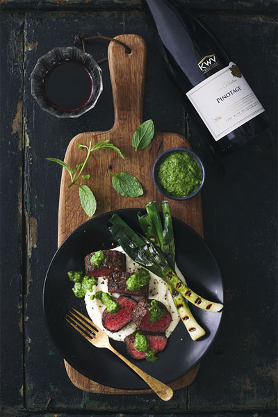 Springbok Loin with Turnip And Cashew Nut Purée