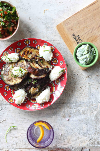 Grilled Marinated Brinjal