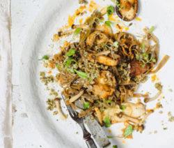 Marinated Wild Mushroom pasta