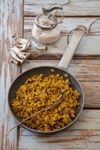 Mushroom, Parmesan and Saffron Risotto