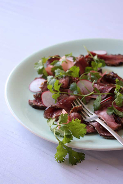 Seared Ostrich Carpaccio