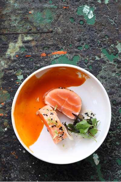healthy fish recipes - seared salmon