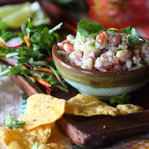 White Fish Ceviche with Nachos 3x3