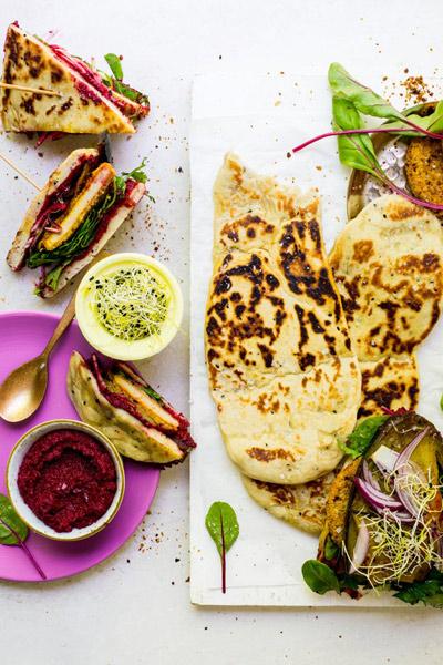 Naan Sandwiches