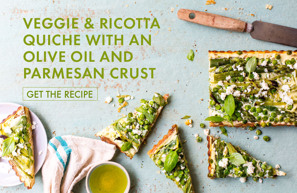 2017 Absa Top 10 Olive oil Awards Veggie & Ricotta Quiche Recipe