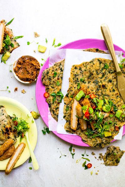 Spinach Rotis Quorn Vegan Schnitzels