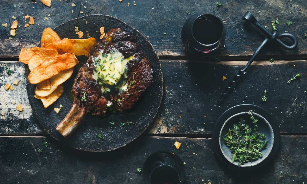 Farm To Table Cooking with Boschendal | Reverse sear Ribeye steak