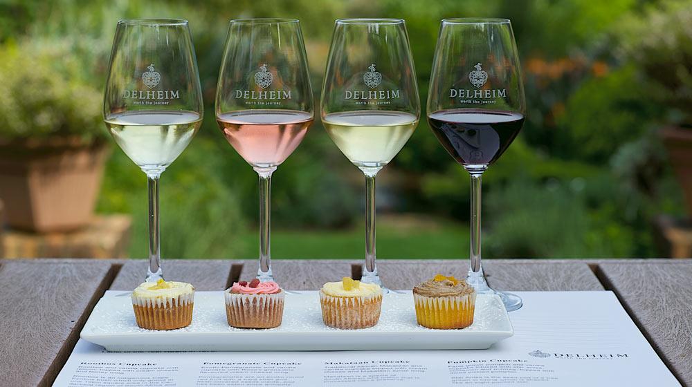 unique wine tasting pairings Delheim Cupcakes Wine Pairing