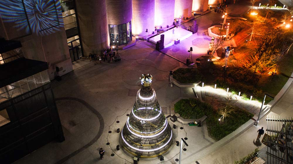 Moet Chandon Champagne Christmas Tree