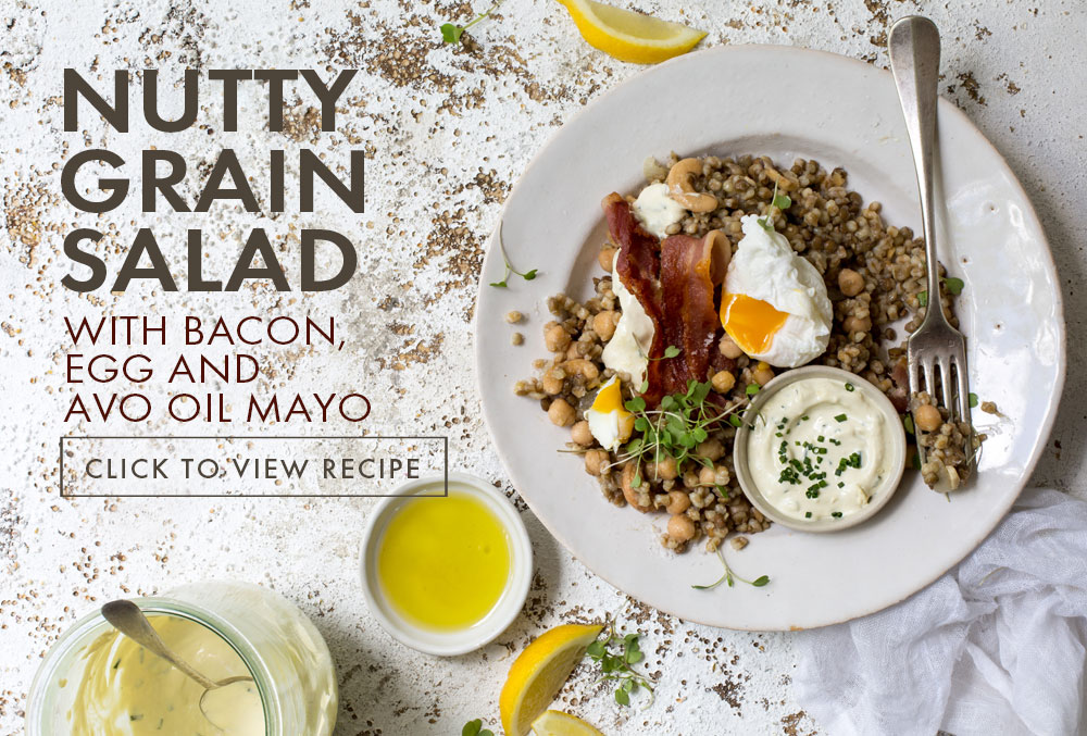 Cook and Bake with Avocado Oil - nutty Grain Salad