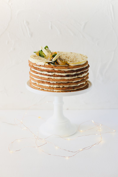 Festive Biscuit and Custard Layer Cake
