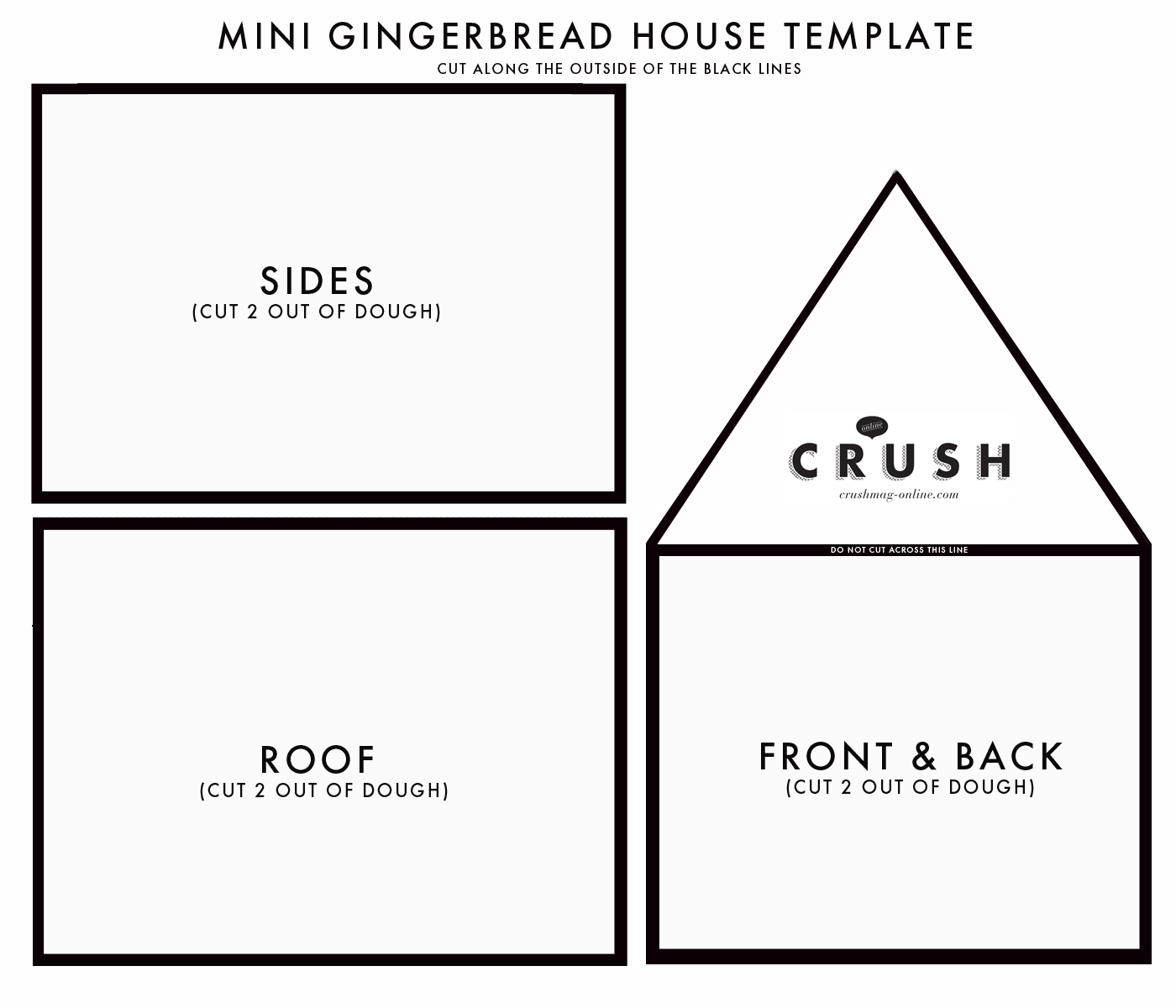 image about Printable Gingerbread House named Gingerbread-Space-Template-Crush Crush Mag On the web