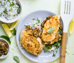 Spinach,-Ricotta-and-Tomato-stuffed-Chicken-Breasts-with-Crunchy-Cheese-Topping-4x6