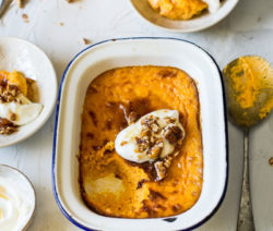 carrot & coconut custard