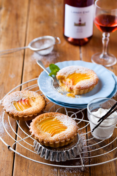 Autumn in South Africa Peach & Frangipane Tart