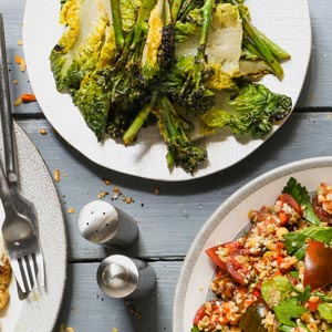 Charred Broccoli and Baby Gem Salad