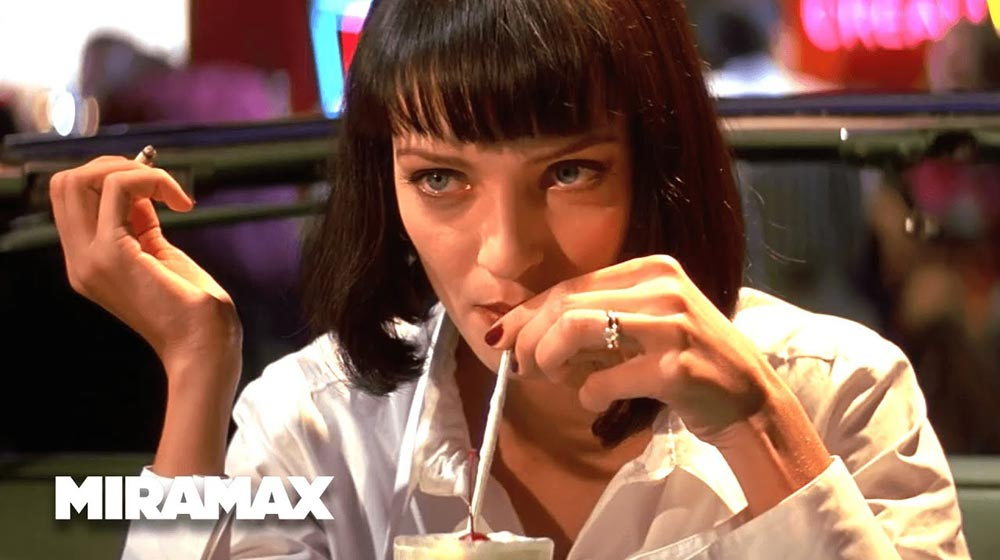 Uma Thurman Pulp Fiction Food in Movies