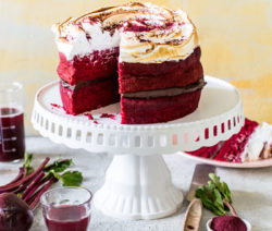 Beetroot Cake with Meringue Frosting