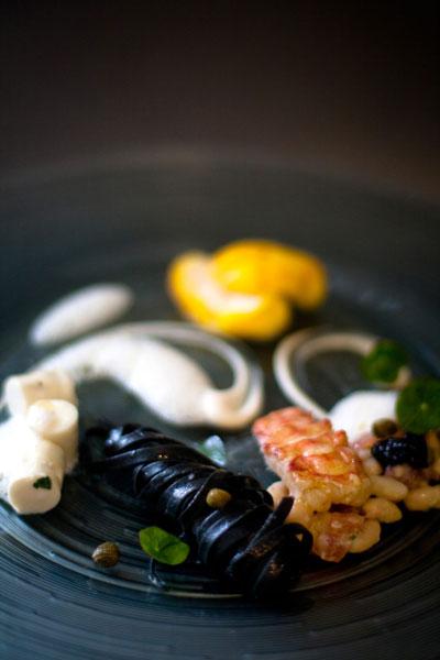 food presentation Pan Seared langoustine