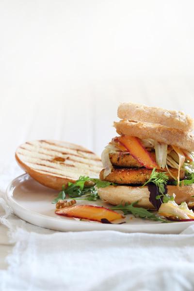 Quorn Vegan Burger with Carrot Slaw