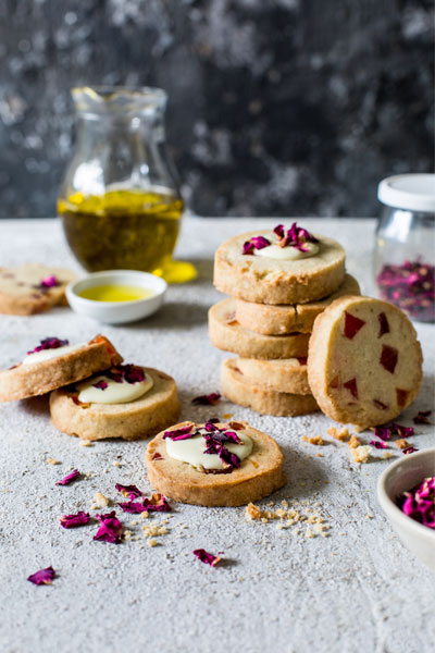 Turkish Delight and Olive Oil Shortbread