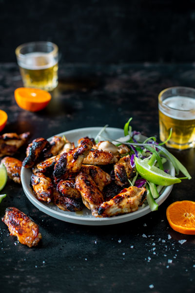 Sticky ClemenGold, Chilli and Ginger Chicken Wings