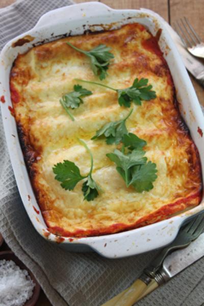 Cheesy Valentine's Day Spinach, Mushroom and Ricotta Cannelloni