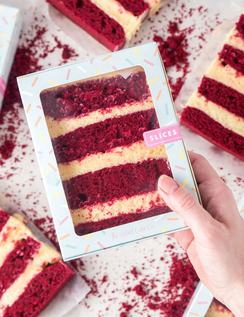 The Velvet Cake Co. Slices red velvet