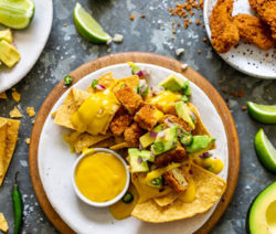 vegan cheese nachos