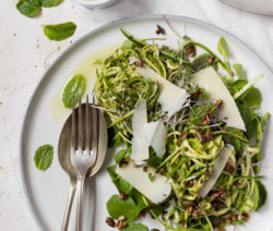 Mint, Lemon & Olive Oil marinated Zucchini Salad