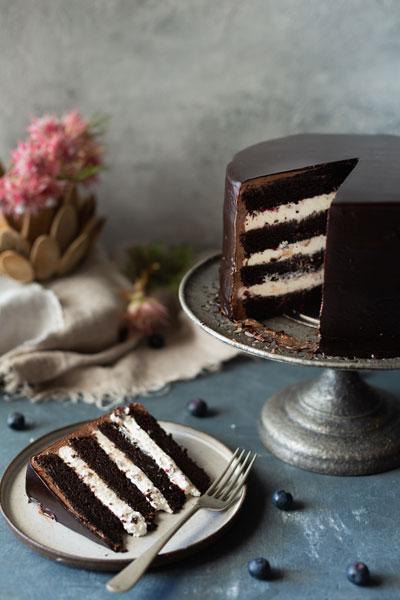 Chocolate and Berry Tea Cake