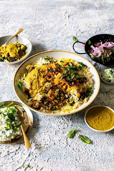 Vegan Saffron and Veggie Biryani