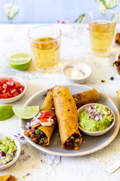 Beef and Vegetable Taquitos